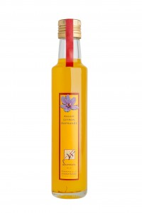 La sauce citron safranée du Safran de la Chapelle Vicomtesse, Loir et Cher. The Saffron lemon sauce of Safran de la Chapelle Vicomtesse in Loire Valley