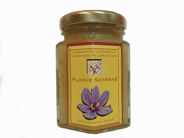 confiture d ananas safranée du Safran de La Chapelle Vicomtesse en Loir et Cher